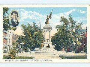 W-border MONUMENT SCENE Baltimore Maryland MD AE7710