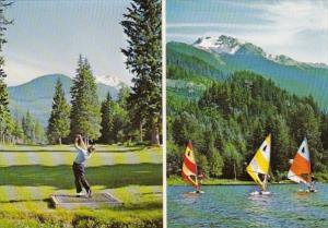 Canada British Columbia Whistler Arnold Palmer Designed Golf Course & Wind Su...