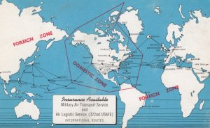 Military Air Transport Map , USAFE , 40-60s