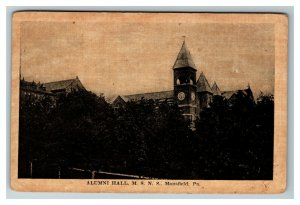 Alumni Hall, Mansfield State Normal School, Mansfield PA c1910 Postcard I25