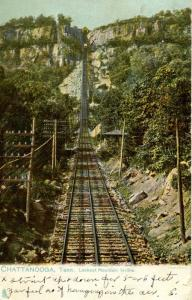 TN - Chattanooga. Lookout Mountain, Looking Up the Incline Railroad