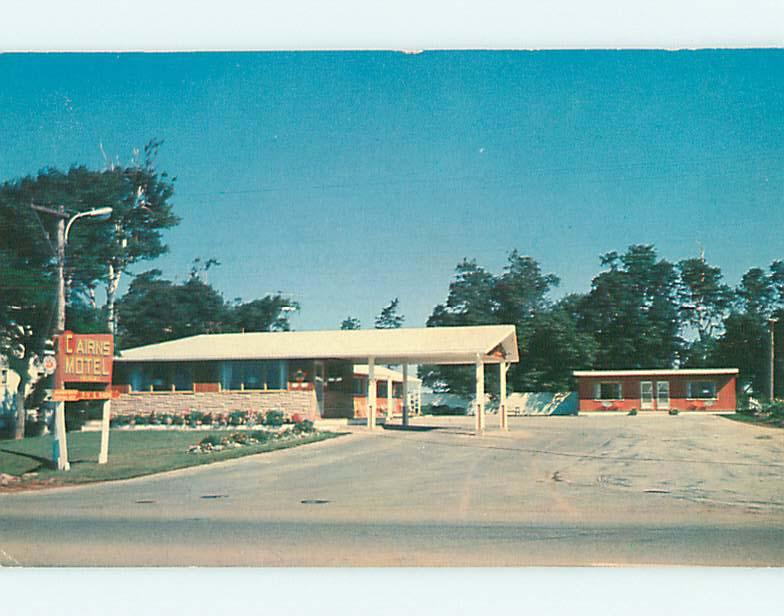Unused Pre-1980 CAIRNS MOTEL IN SUMMERSIDE Prince Edward Island PEI CANADA s4316