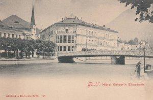 Hotel Kaiserin Elisabeth Antique Austria Postcard