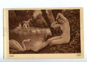149373 NUDE LEDA & SWAN Lake Vintage SALON PC