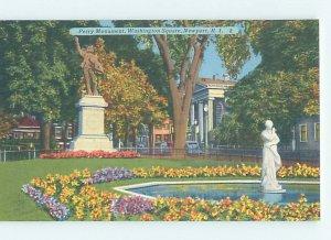 Linen MONUMENT SCENE Newport Rhode Island RI AE7683