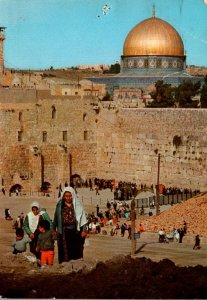 Israel Jerusalem Old City View Towrds The Western Wall and Dome Of The Rock 1971