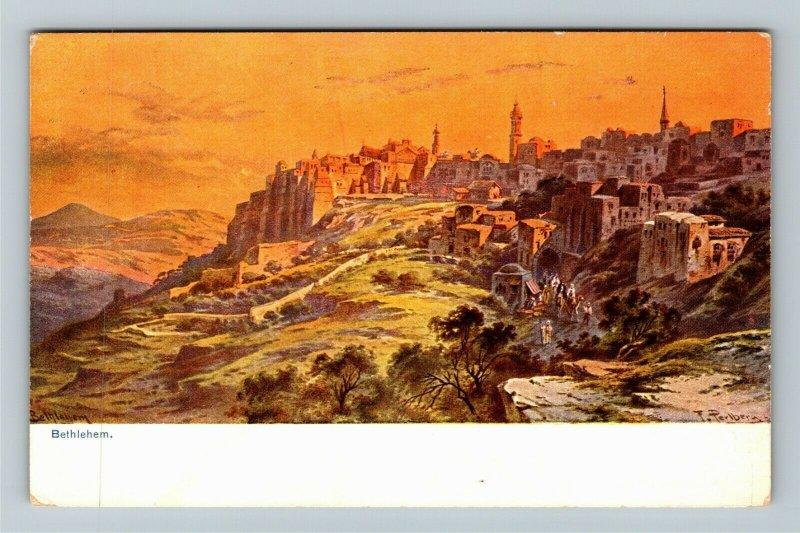 Bethlehem Israel Palestine Scenic View Vintage Postcard