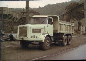 Vintage Trucks on Postcards GERMANY 1966 BUSSING Commodore