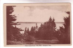 Sepia, Chat's Lake from The Hill, Arnprior, Ontario, International Stationery Co