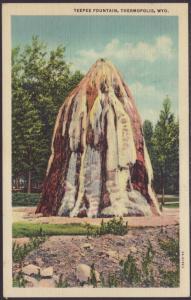 Teepee Fountain,Thermopolis,WY Postcard