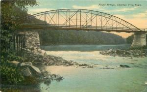 Charles City Iowa C-1910 Floyd Bridge May Drug postcard 8088