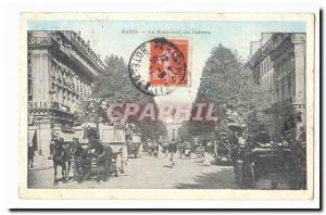 Paris (9th) Old Postcard Boulevard Italians