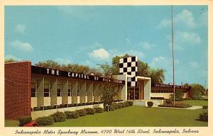 Indianapolis motro Museum, Indianna, USA Auto Race Car, Racing Postcard Unused