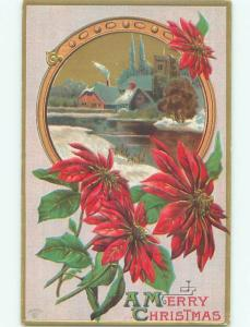 Divided-Back CHRISTMAS SCENE Great Postcard W9704
