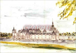 Modern Postcard Chateau de Chantilly