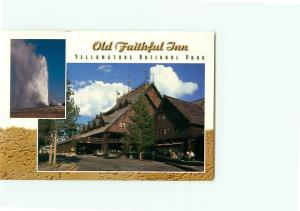 Vintage Postcard Old Faithful Inn Yellowstone National Park Seattle Wash # 3419