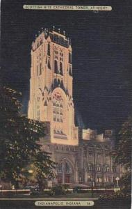 Indiana Indianapolis Scottish Rite Cathedral Tower At Night