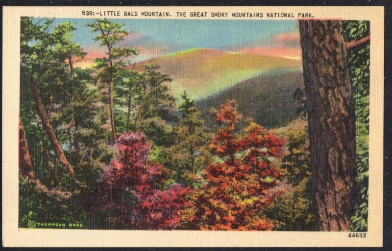 Linen colour PC Little Bald Mountain Great Smoky Mountains National Park unused