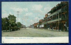 Pensacola Florida fl Palafox street looking south postcard