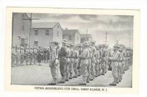 Soldiers, Detail Assembling For Drill, Camp Kilmer, New Jersey, 1920-40s