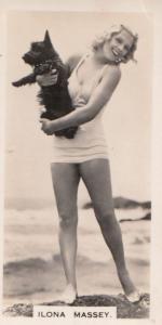 Ilona Massey Hollywood Actress Rare Real Photo Cigarette Card