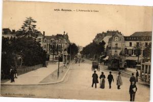 CPA RENNES-L'Avenue de la Gare (265507)