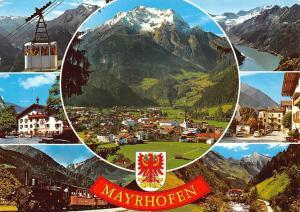 Austria Mayrhofen im Zillertal Tirol Cable Car Train General view Mountain