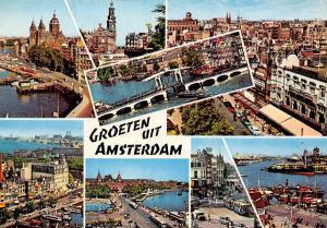Netherlands Groeten uit Amsterdam / Holland, many views souvenir