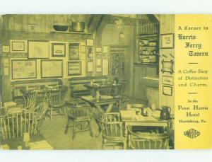 1930's HARRIS FERRY TAVERN RESTAURANT Harrisburg Pennsylvania PA HQ5615