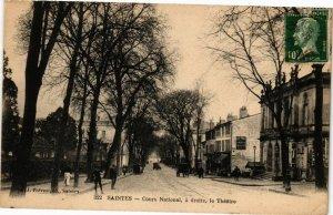 CPA SAINTES-Cours National a droite le Théatre (45481)
