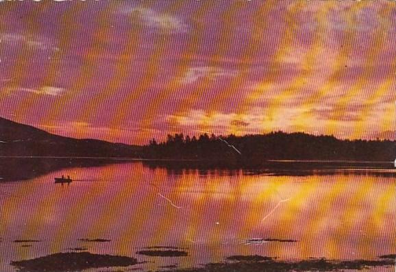 California Big Bear Lake Sunset Over