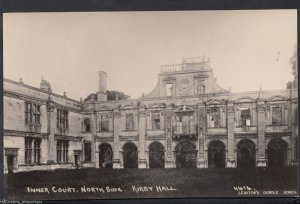 Northamptonshire Postcard - Kirby Hall, Inner Court, North Side   RT2277