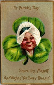 Antique 1900's TUCK Postcard St. Patrick's Day Postcard Series #106