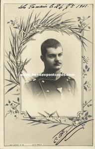King Aleksandar Obrenović Alexander I of Serbia (1901) RPPC Postcard