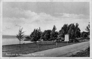 LAKE MEGANTIC  QUEBEC CANADA-BOULEVARD des VETERANS-PHOTO POSTCARD 1941 PMK