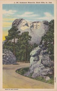 South Dakota Black Hills Mount Rushmore Memorial Curteich