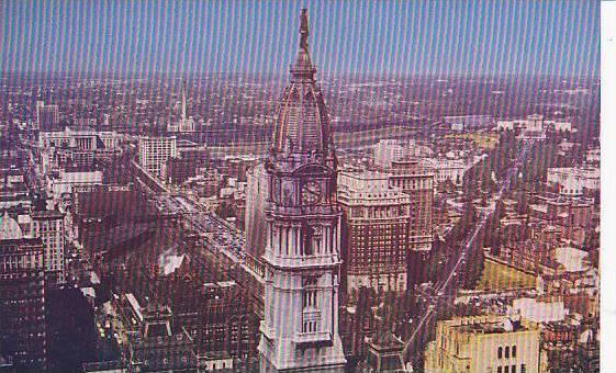 View from P.S.F.S. building, Philadellphia, Pennsylvania, 40-60s