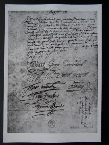 Historical Document SPANISH ARMADA Eng Commanders Signitures RPPC British Museum