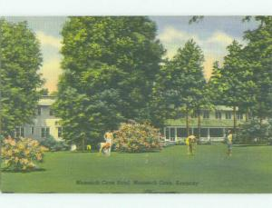 Unused Linen MAMMOTH CAVE HOTEL Mammoth Cave National Park Kentucky KY hr7829@