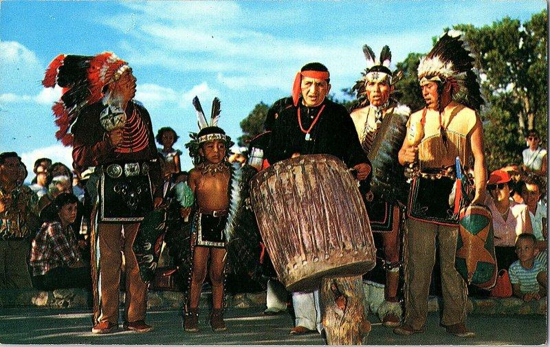 Indian Dancers Grand Canyon Arizona Native American Postcard Standard View Card