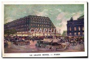 Old Postcard Grand Hotel Paris