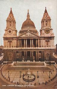 St. Paul's Cathedral, London, England, Early Postcard, Unused