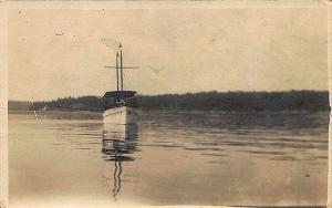 Chelsea MA Passenger Boat Coast RPPC Postcard