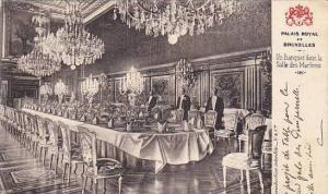 Belgium Brussels Palais Royal Un Banquet dans la Salle des Marbres 1906
