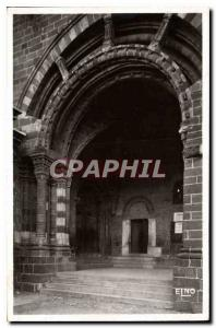 Old Postcard Le Puy Haute Loire The Porch For the Papal door and the door Romane