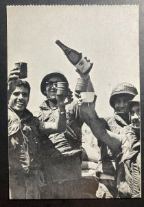 Mint Israel Real Picture Postcard RPPC 6 Days War 1967 Soldiers Cheers