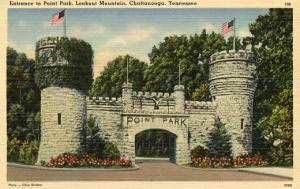 TN - Chattanooga, Entrance to Point Park, Lookout Mountain