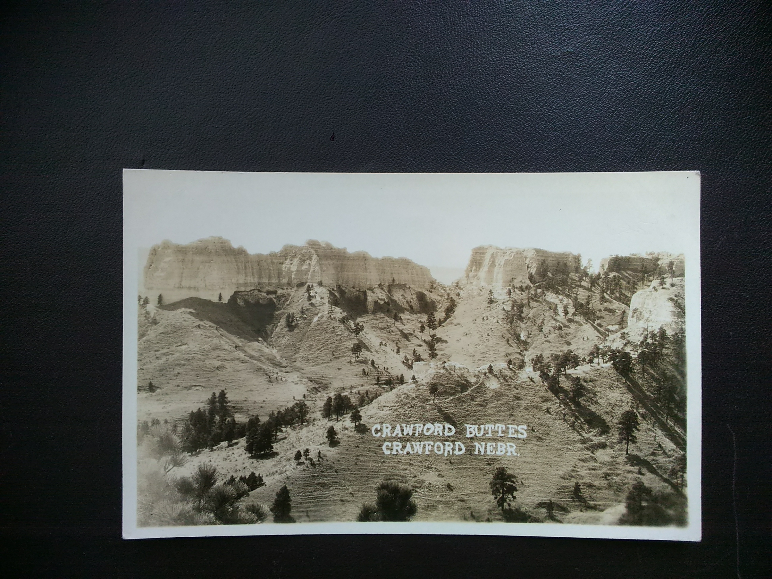 Crawford Nebraska RPPC: CRAWFORD BUTTES / HipPostcard