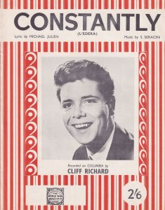 Constantly Cliff Richard 1950s Sheet Music