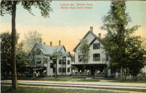 ME - Lewiston. Bates College. Whittier House, Milliken House